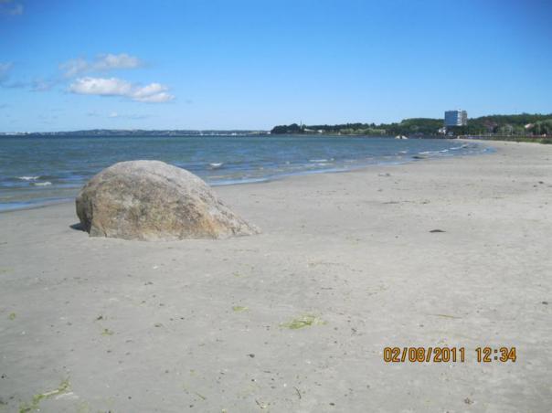 En la playa , en Tallin .