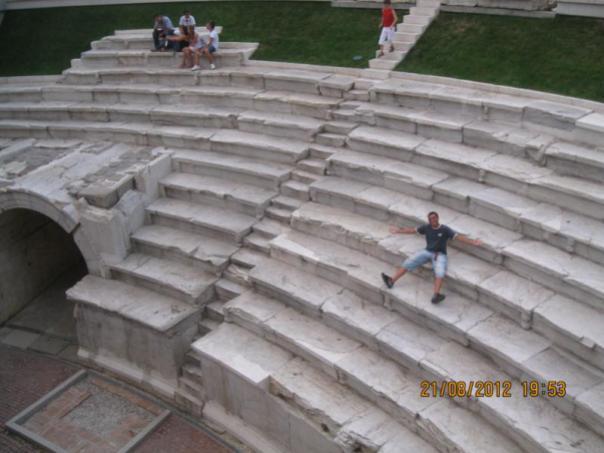 En el Teatro Romano , en Plovdiv .