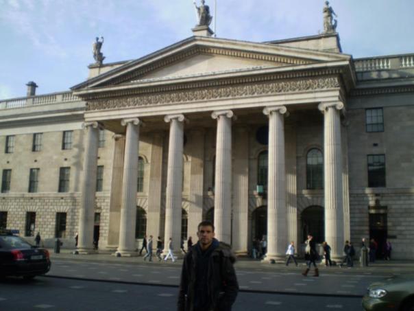 Paseando , en Dublin .