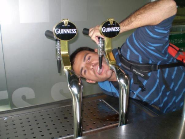 En la Cerveceria  Guiness , en Dublin.