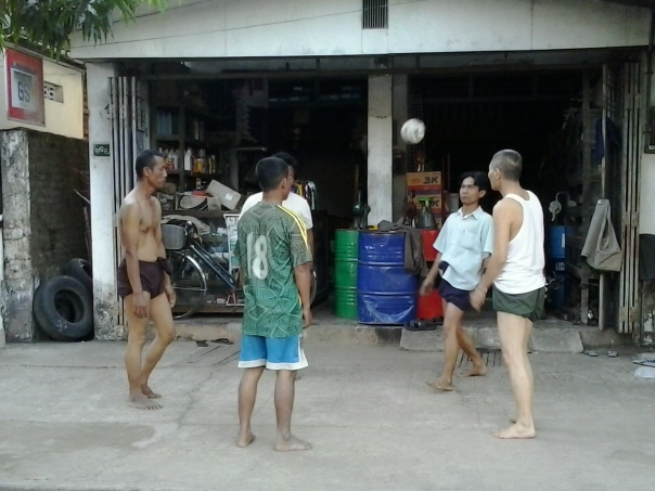 Deporte nacional , en Birmania .