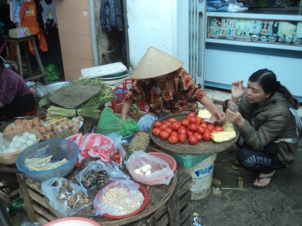 Mercado callejero , en Da Nang .