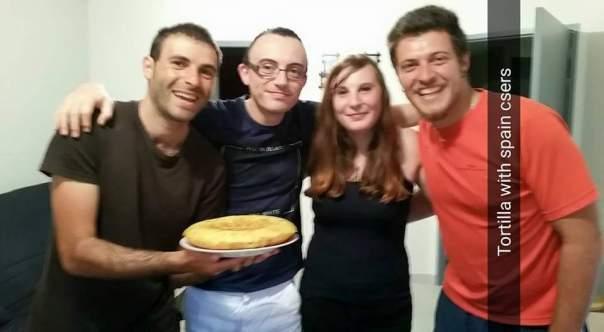 Con Benoit , su hermana y Gonzalo .